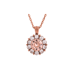 Sofia Silk Rose Gold - Necklace